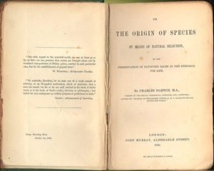 title page of Darwin's origin of species